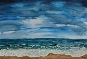 Sea and sky/Море и небе-48x33 cm