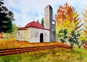 Mount Srednogorets/Връх Средногорец-34.5x24 cm