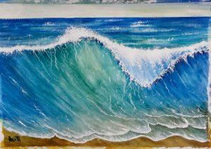 Wave -42x30 cm