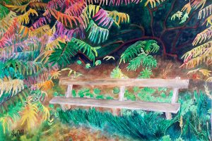 Forest bench -49.5x34.5 cm