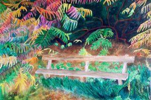 Forest bench/Горска пейка-49.5x34.5 cm