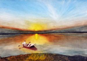 Sunset 2/Залез 2-42x30 cm