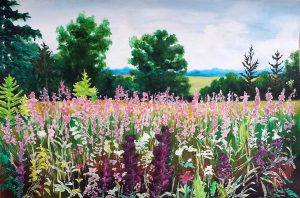 Lavender field/Лавандулово поле-49.5x34.5 cm