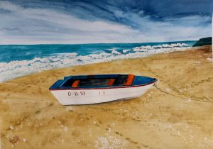 Boat on the beach/Лодка на плажа-49.5x34.5 cm