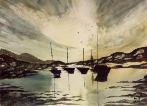 Boats/Лодки-38.5x28 cm