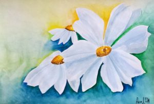 Daisies/Маргаритки-42x29.5 cm