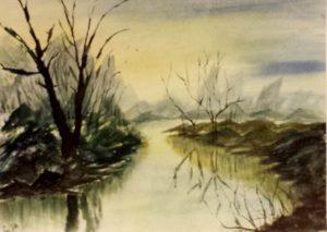 River -38.2x28.2 cm