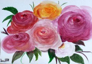 Roses/Рози-23.5x16.5 cm