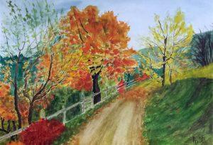Rural road - 42x30cm