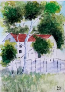 White house -23.5x32.5 cm