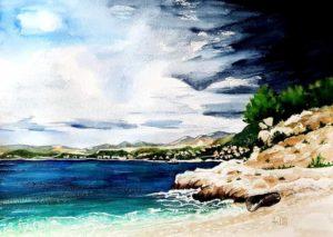 Любим плаж, Цавтат 29x42 см